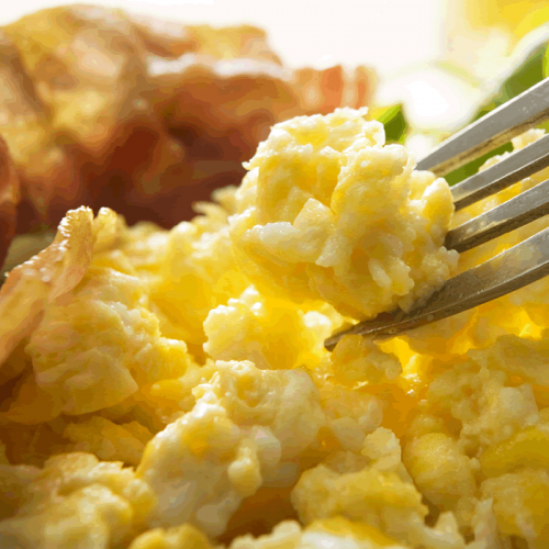 Scrambled Eggs Breakfast